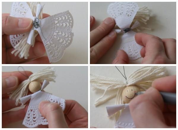 Ангел из бумажной салфетки