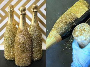 Как украсить шампанское к новому году?