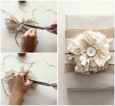 Винтажный цветок для украшения подарка