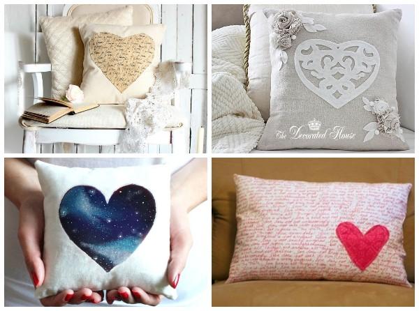 Идеи декоративных подушек на 14 февраля
