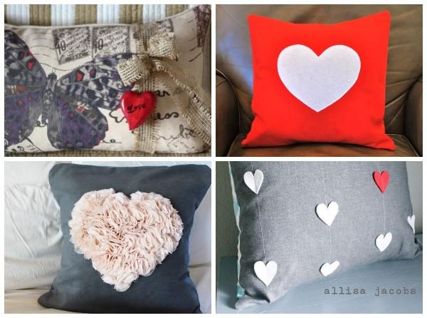 Идеи декоративных подушек на День Святого Валентина