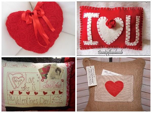 Идеи декоративных подушек на День влюблённых