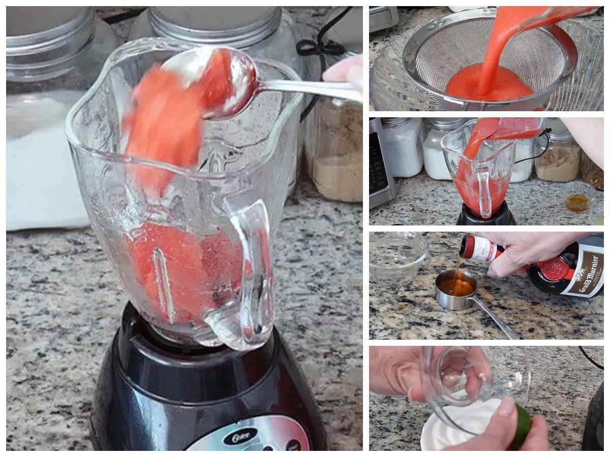 Арбузный сок с ромом