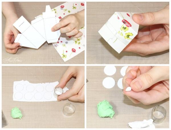 Как сделать кусочки торта из бумаги