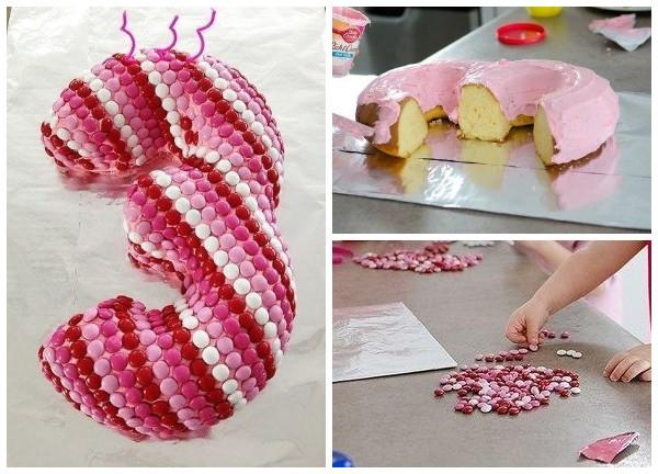 Как сделать торт в виде тройки
