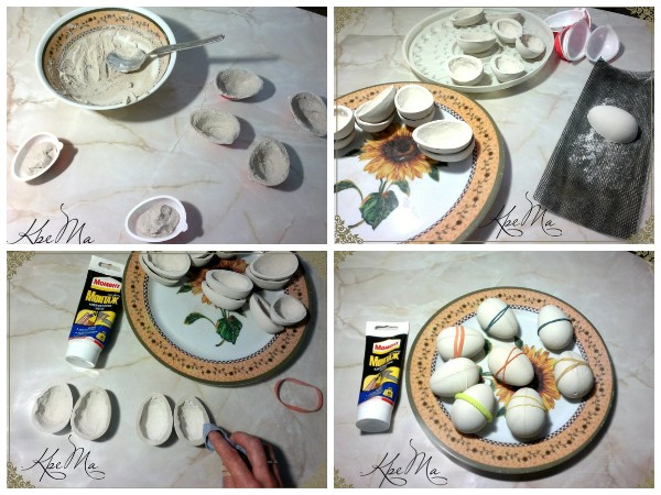 Гипсовые яйца своими руками
