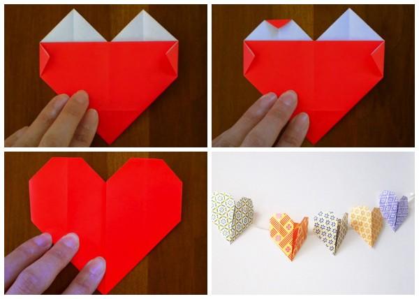 Как сложить оригинальное сердечко из бумаги