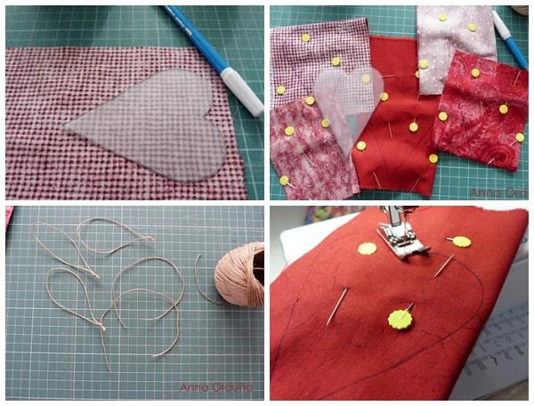 Как сшить текстильные сердечки