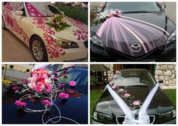 Как украсить свадебный картеж