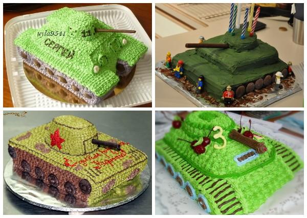 Как украсить торт в виде танка кремом