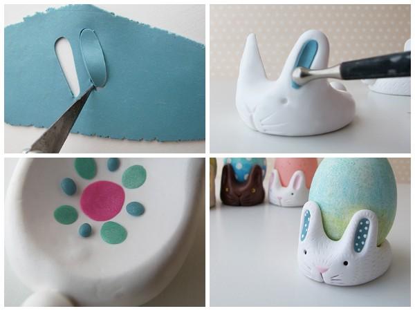Пасхальные кролики - подставки для яиц