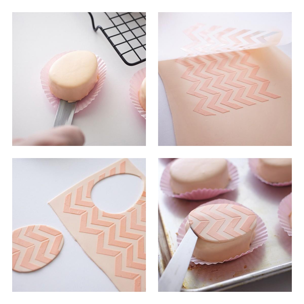 Как украсить пирожные мастикой