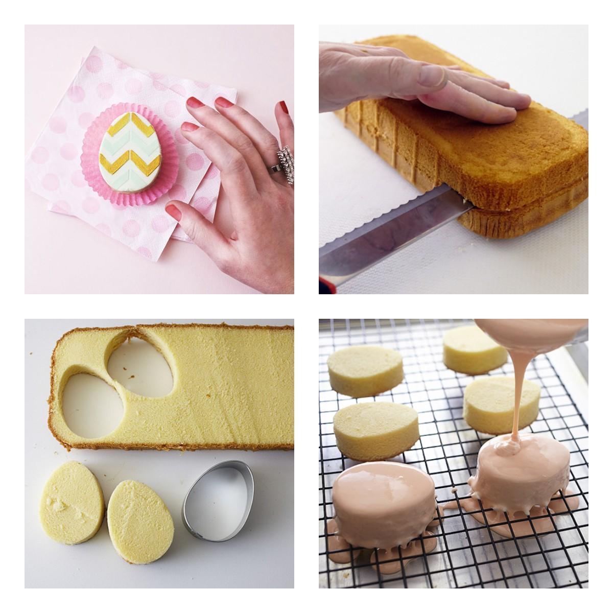 Пирожные в виде пасхальных яиц своими руками