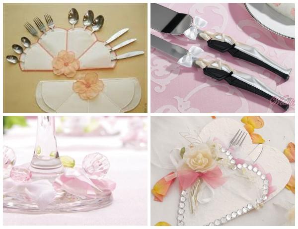 Подача столовых приборов на свадьбу