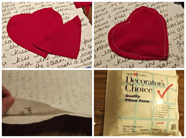 Как сделать декоративную подушку с надписями на 14 февраля