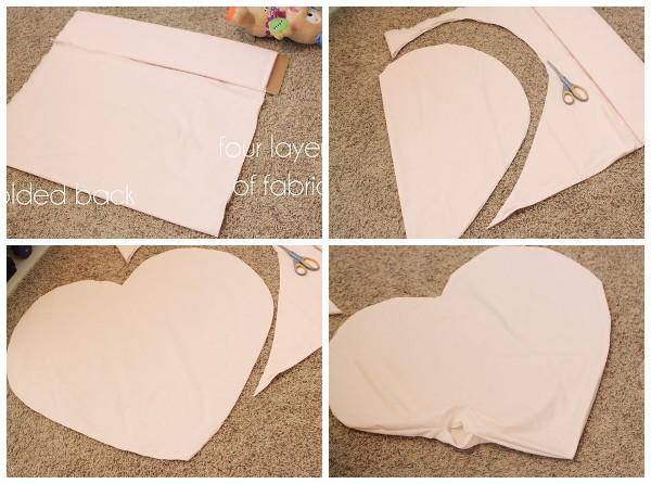 Как сшить подушку в виде сердца