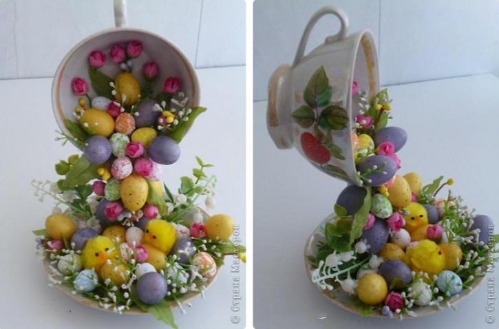 Цветочные чашки к 8 марта своими руками