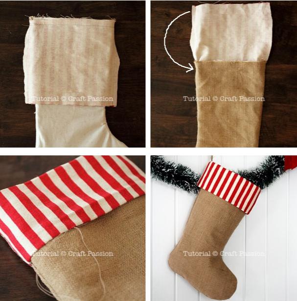 Мастер-класс, как сшить рождественский носок