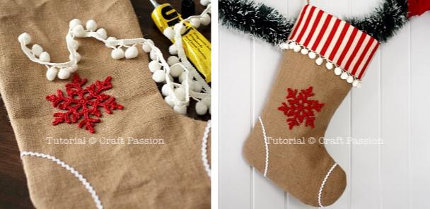 Как сшить рождественский носок