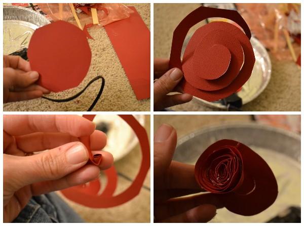 Как сделать розочки из бумаги