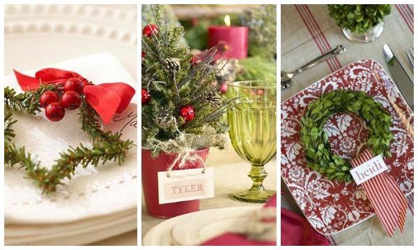 Оригинальная сервировка новогоднего стола