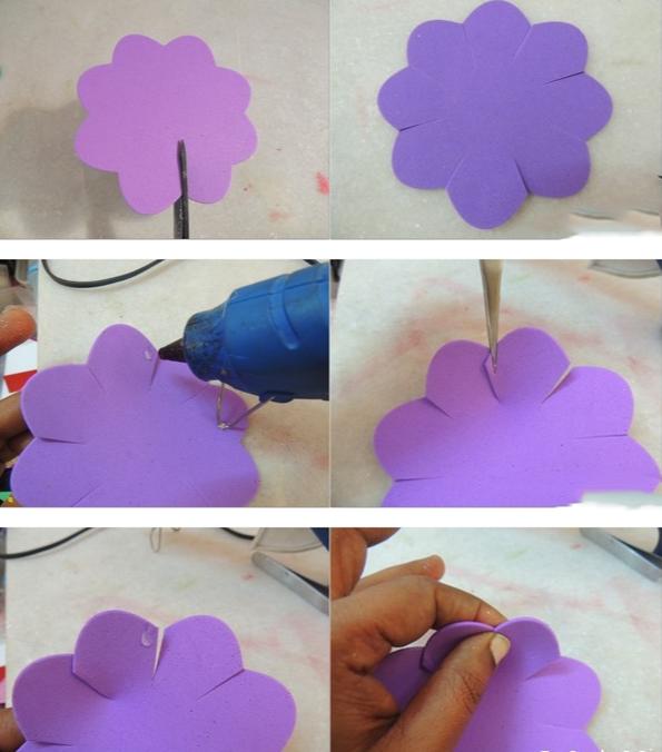 Как сделать объемный цветок из фоамирана