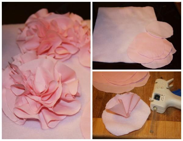 Помпон из ткани