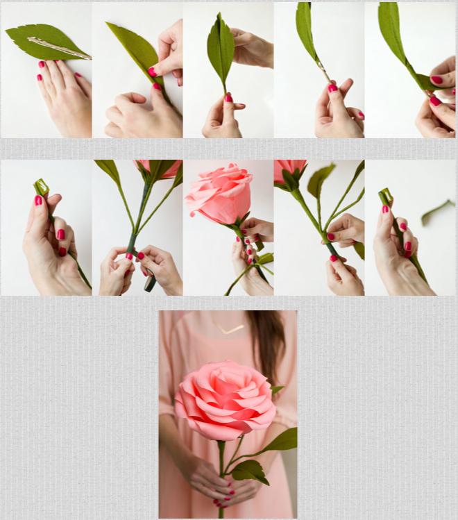 Огромные цветы из гофрированной бумаги своими руками