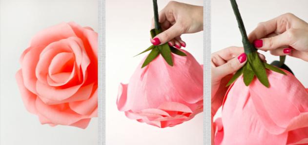 Цветы из бумаги пошагово