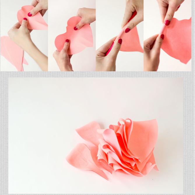 Как сделать розы из гофрированной бумаги