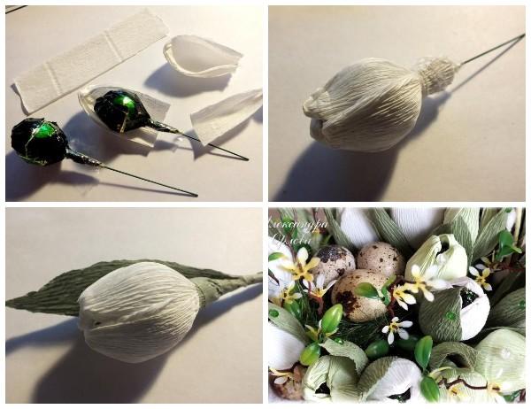 Цветы из конфет МК