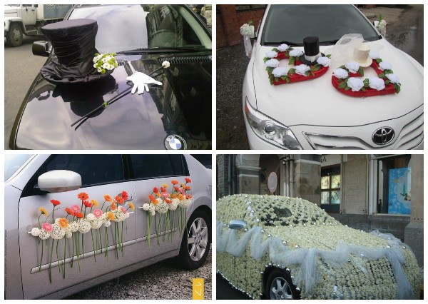 Украшение машин своими руками на свадьбу