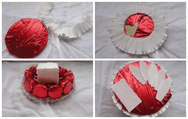 Весенняя композиция из конфет