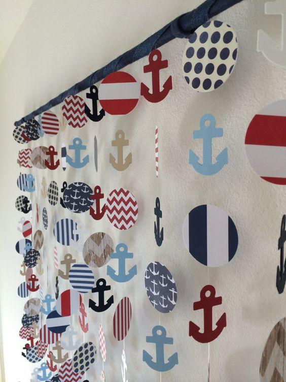 Бумажная гирлянда в морском стиле