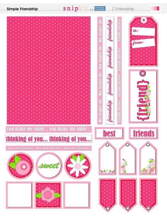 Розовые этикетки скрапбукинг
