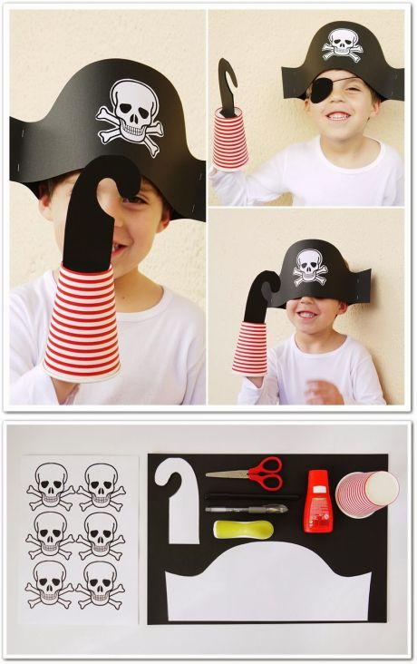 Пиратская шапка и крюк своими руками