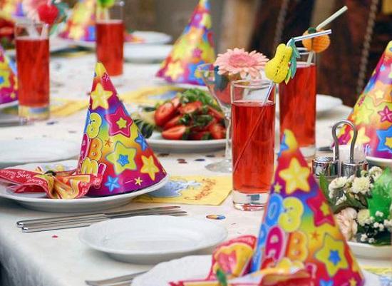 Украшение стола на детский День рождения