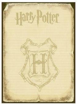 Шаблон для приглашения на вечеринку в стиле Гарри Поттера