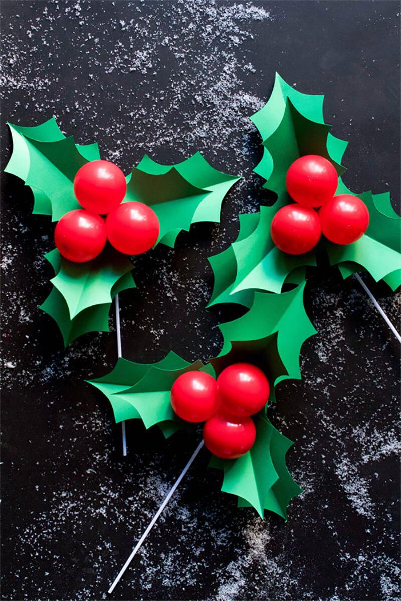 Рождественские веточки своими руками