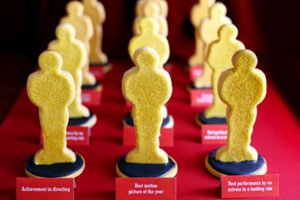 Печенье в виде статуэток Оскар