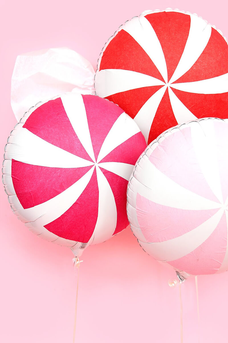 Рождественские леденцы из воздушных шариков