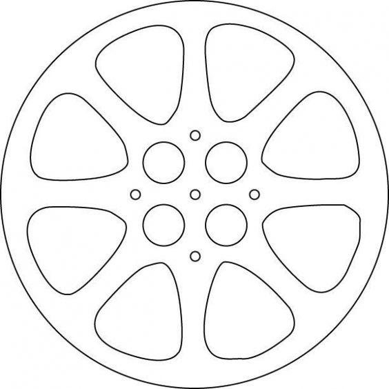 Шаблон катушки с кинопленки