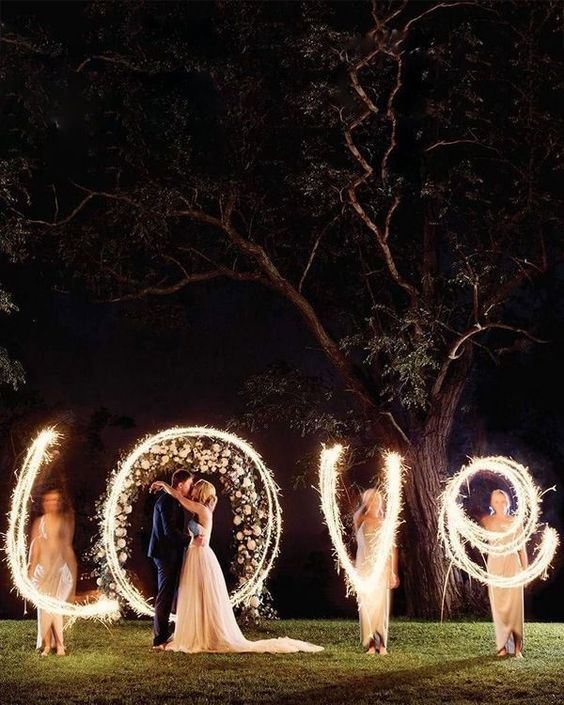 Вечерние свадебные фото