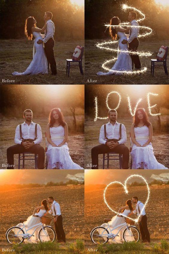 Креативные фото на свадьбу