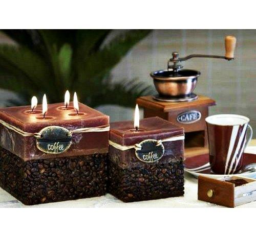 Свечи с кофейными зернами