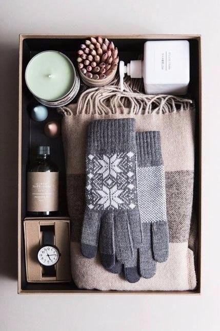 Подарочный набор с перчатками