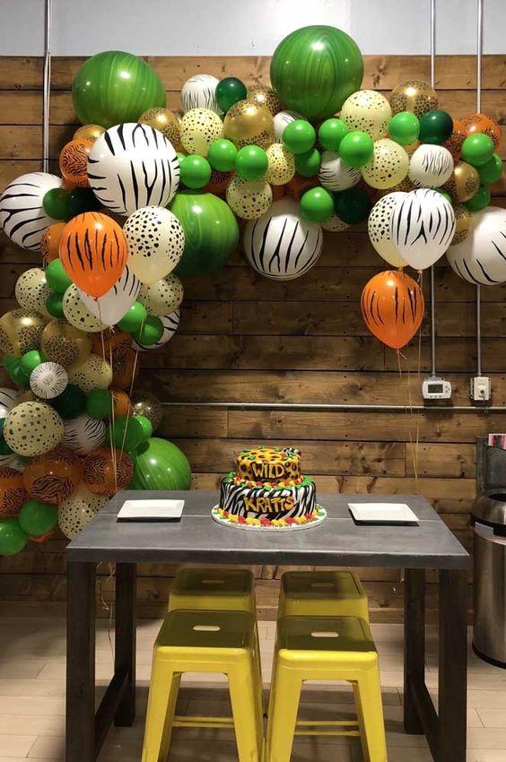 Оформление праздника в стиле сафари шариками