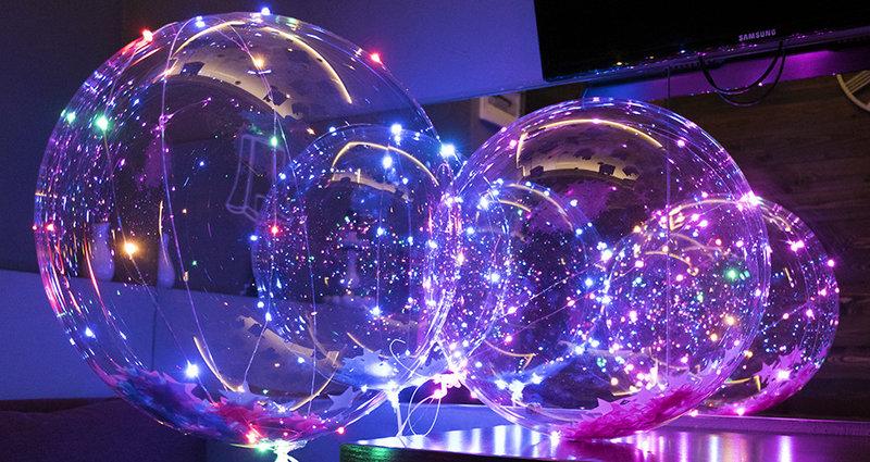 Прозрачные шары бабблс