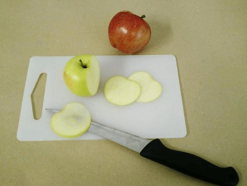 Сухие яблочные дольки для декора