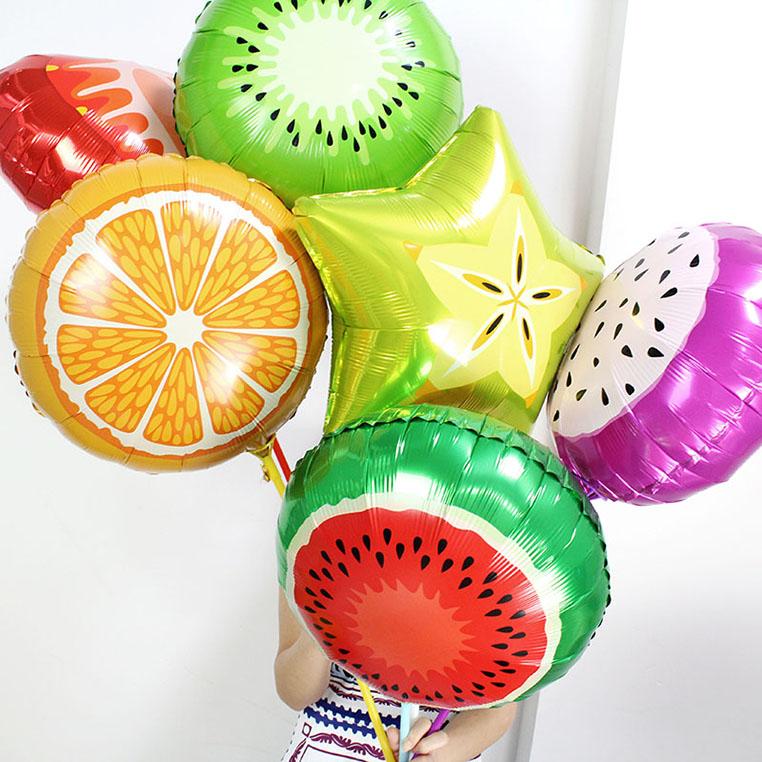 Фольгированные шары в виде фруктов